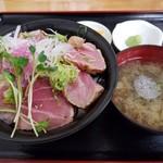 みなと市場 小松鮪専門店 - 「大トロ炙り丼」