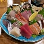 80967506 - 「鮮魚さしみ ゑびす盛り」(1280円)
