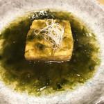 80968292 - あおさたっぷり出汁豆腐 (680円)