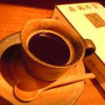 士心 サムライカフェ&バー - 出雲蕎麦珈琲です。蕎麦の実をブレンドしてあります。
