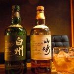 士心 サムライカフェ&バー - 5大ウィスキーのひとつ、ジャパニーズウィスキーおいてます。