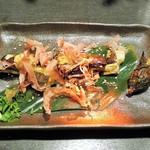 京急蒲田のひもの屋 - 長茄子の炭火焼き