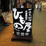 京急蒲田のひもの屋 - 立て看板