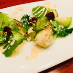 ラパルタメント ディ ナオキ - 蕾菜のシーザーサラダ。