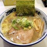 らーめん 菊次郎 - らーめん 菊次郎 「塩ラーメン+ワンタン」