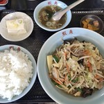 蝦夷 - 料理写真:肉野菜炒め定食 850円