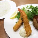 レストラン ベレール - 1802_レストラン ベレール大阪空港_ハンバーグとエビフライセット@1,230円