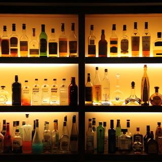 お酒の種類も豊富♪珍しいウィスキーやジンも☆