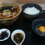 四季蕎麦 - 料理写真:かけうどん&玉子かけご飯セット