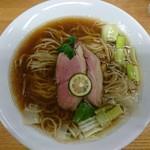 麺麓menroku - 料理写真:鴨出汁そば大盛780円+100円