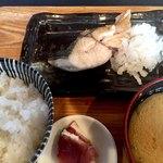 どまん中 - サワラ塩焼き定食780円