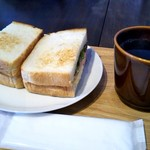 するめcafe - たまごと野菜サンド&グアテマラ
