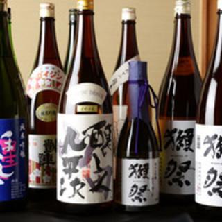厳選された日本酒を種類豊富に取り揃えております。