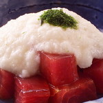 栄寿司 - まぐろの山かけ