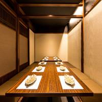 宴会に人気の個室席を多数完備