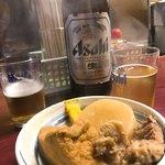 お多福 - 二人で瓶ビール