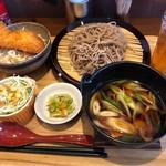syokudo ぱくり亭 - 豚バラつけ汁そば+ミニたれかつ丼