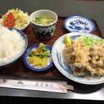蓬山 - 鶏天定食 800円
