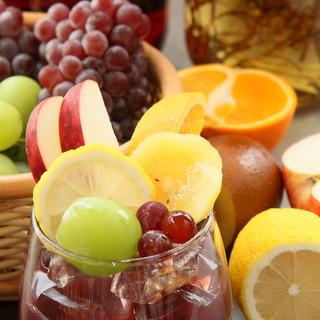 多彩なドリンク多数☆自家製サングリア・厳選ワインが充実◎