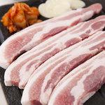 龍陣 - 文句なしの国産美豚を天然石で旨味だけ残るように焼き 特製京タレや天然塩で召し上がっていただきます