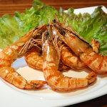 塔手夢歩尾瑠の館舟 - ハワイアンガーリックシュリンプ!一度食べたらやみつきです!