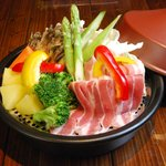 塔手夢歩尾瑠の館舟 - 野菜たっぷりヘルシー料理!タジン鍋で温野菜