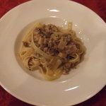 イタリア田舎料理 ダンロ - パスタ ラグー豚のタリアテッレ。此処はラグー豚美味しいですよ☆