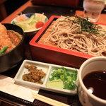 銀座 木屋 - ミニ天丼セット(1300円)