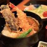 銀座 木屋 - ミニ天丼セットの天丼