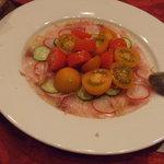 イタリア田舎料理 ダンロ - 鯛のカルパッチョ