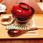 甘味茶屋 七葉 - 粒あんぜんざい(800円)