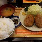 三福亭 - メンチかつ定食1000円