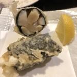 天ぷら新宿つな八 - 柱の海苔巻き
