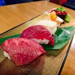 81004625 - 肉の寿司盛り合わせ
