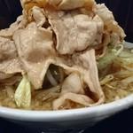 麺屋わっしょい - 黒醤油麺大盛野菜大盛肉10枚♪