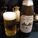 とん皇 - とんかつにはビールだね(*^^)v