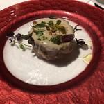 81011597 - 淡路産カワハギと甘エビ、林檎のタルタル 肝のムースリース