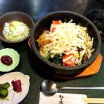 創作茶屋 まきの木 - 料理写真:石焼明太子膳にチーズのトッピング