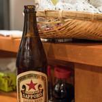 やきとん 赤尾 - 2018.2 瓶ビール 中瓶 サッポロラガー(530円)