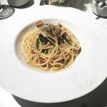 J'adore Chayamachi - 帆立・菜の花・蓮根のオイルソースパスタ♪