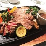 J'adore Chayamachi - J'adore鉄板肉バルスタイル!3種盛り!