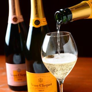多彩なワイン◎悦びはじける!衝撃価格の【シャンパン】も♪