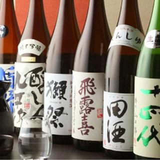 全国各地の銘酒が勢ぞろい!厳選した日本酒は20種類以上!