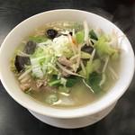 泉州 - 野菜たっぷり塩タン麺