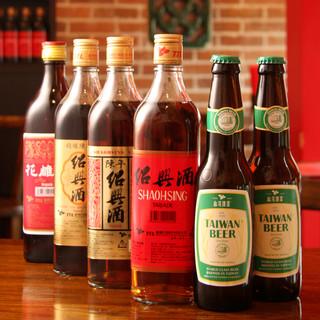 台湾ムードにこだわって★お酒も厳選の中国酒を多数ご用意!