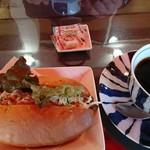 珈琲倶楽部 - ツナサラダサンドと本日のお試しコーヒー
