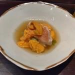 魚料理 青柳 - 料理写真:北海道産キンキと雲丹の少し煮た感じなもの