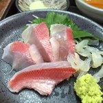 まるさん松本 - 金目鯛3種のお造り