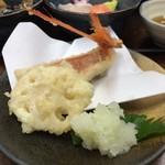 まるさん松本 - 金目鯛の天ぷら