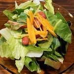 81043022 - サラダはイキイキ野菜たち。